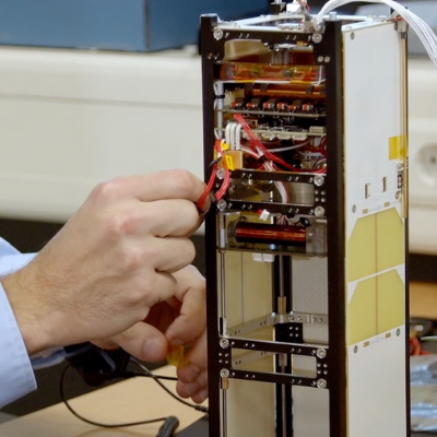 At the CubeSat lab students design and build a satellite mission