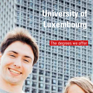 The degrees we offer (PDF), University of Luxembourg